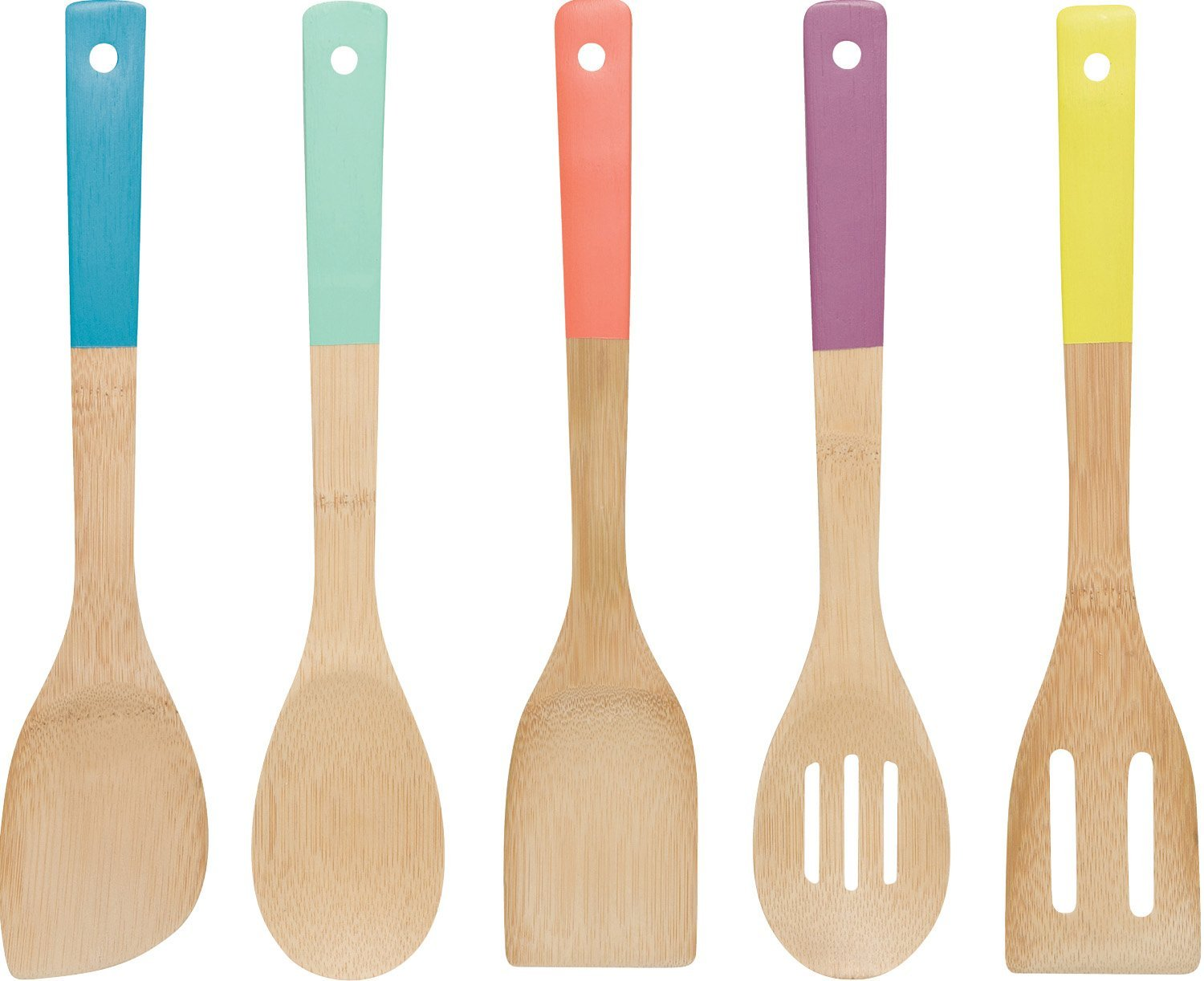 Colorful Bamboo Utensils Picky